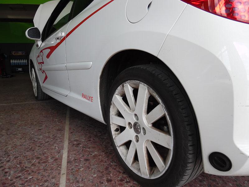 Peugeot 207 Rallye 1.6 Turbo άμεσου ψεκασμού με σύστημα Landirenzo και μπεκιέρα MED